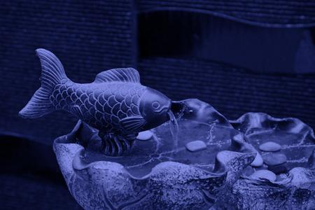 model fish: Fish sculpture handicraft, closeup of photo Stock Photo