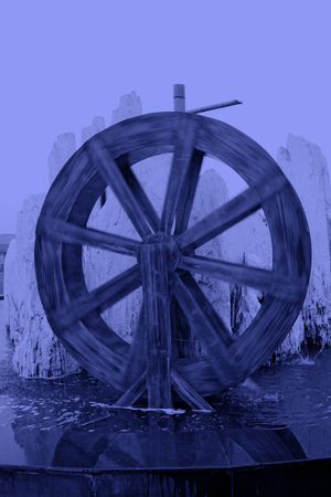water wheel: Chinese style wooden water wheel, closeup of photo