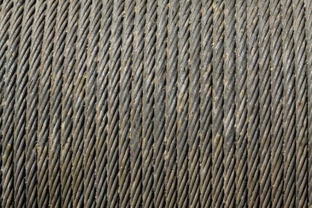 wire rope: dense steel wire rope Stock Photo