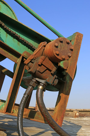 oxidation: Oxidation rust mechanical device Stock Photo