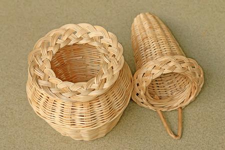 wicker: artesanías de mimbre Foto de archivo