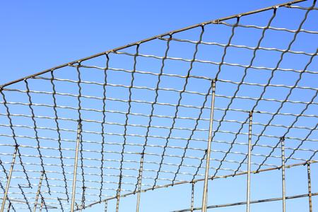 steel frame: Steel frame under blue sky