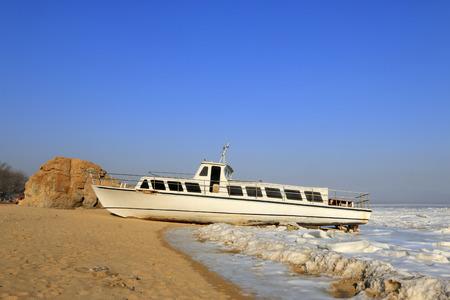 cruise ship on the beach