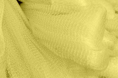 toughness: White nylon fishing nets, closeup of photo Stock Photo