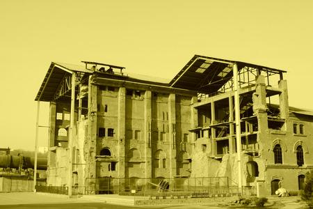 tangshan city: TANGSHAN CITY - NOVEMBER 18: Disused factories, on november 18, 2014, Tangshan City, Hebei Province, China Editorial
