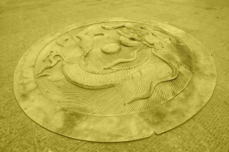 hebei: LUAN COUNTY - NOVEMBER 23: Dragon stone carving,Luanzhou city, on november 23, 2014, Luan County, Hebei Province, China
