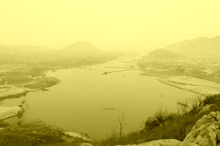 hebei: Luanhe river natural scenery, luan county, hebei province, China
