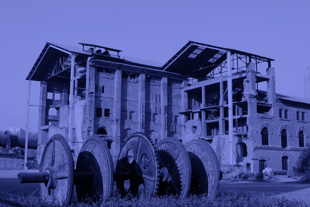 restore ancient ways: TANGSHAN CITY - NOVEMBER 18: Disused factories, on november 18, 2014, Tangshan City, Hebei Province, China Editorial