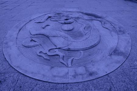 hebei: LUAN COUNTY - NOVEMBER 23: Dragon stone carving?Luanzhou city, on november 23, 2014, Luan County, Hebei Province, China