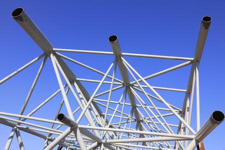 truss: Steel tube truss under blue sky