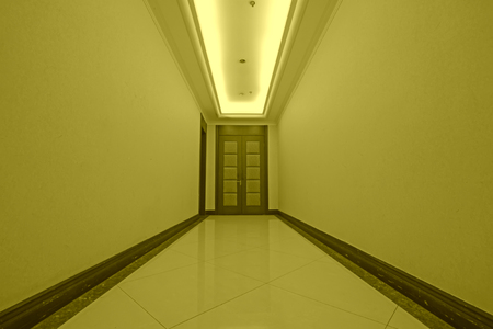 corridors: hotel corridor door, closeup of photo Stock Photo