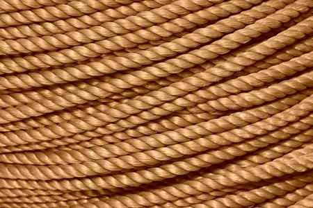 toughness: nylon rope, closeup of photo Stock Photo