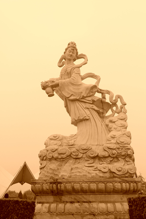 BEIJING - OCTOBER 23: Characters of white marble stone works in the park, on october 23, 2014, Beijing, China. Éditoriale