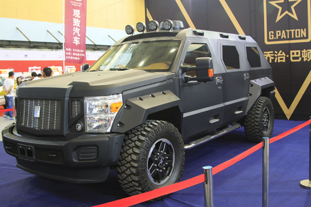 patton: Tangshan - May 30: George patton new cars on the car exhibition, on May 30, 2015, tangshan city, hebei province, China