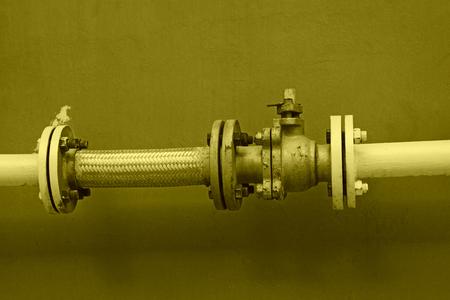 gas pipeline, closeup of photo Stock Photo