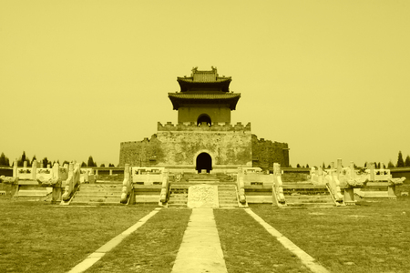 hebei: ZUNHUA MAY 18: Zhaoxi Mausoleum landscape architecture, Eastern Tombs of the Qing Dynasty on may 18, 2014, Zunhua county, Hebei Province, China.