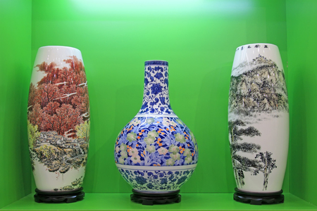 Tangshan - September 16: fine ceramic products in a store, tangshan city, hebei province, China