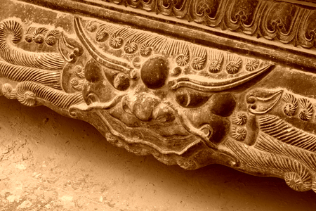 restore ancient ways: Chinese traditional style incense burner components, closeup of photo Stock Photo