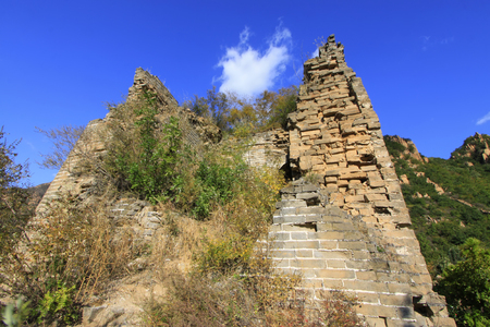 great danger: Great Wall of China architectural scenery