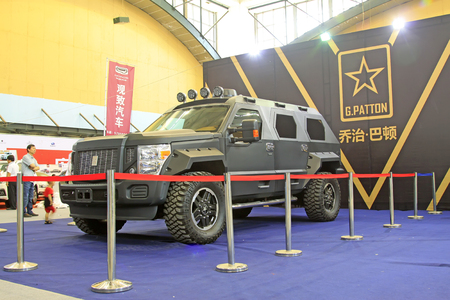 tangshan city: Tangshan - May 30: George patton new cars on the car exhibition, on May 30, 2015, tangshan city, hebei province, China