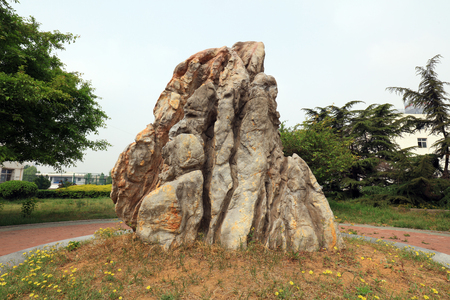 Rockery stone in the park