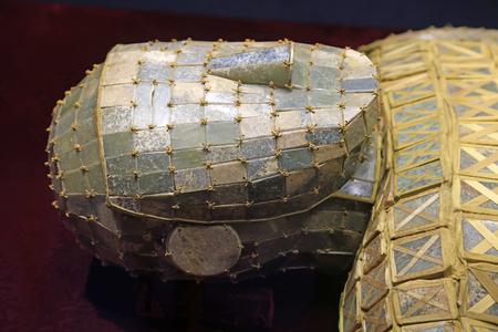 Chińskie starożytne ubrania pogrzebu