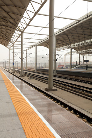 Railway stations, platforms and rails