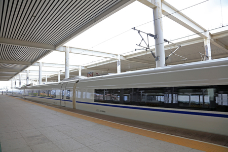 High speed train at the station