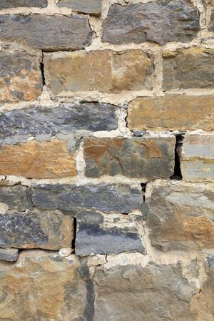 Cracked brick wall Imagens