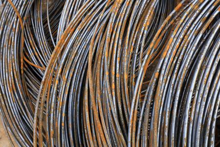 Oxidized rusty steel bars