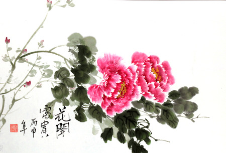 Chinese traditional art works   Editorial