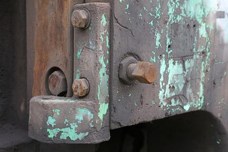 Oxidized rusty bolts