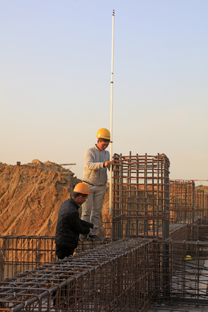 Luannan County - November 8, 2017: Architectural Engineering construction site, Luannan, Hebei, China