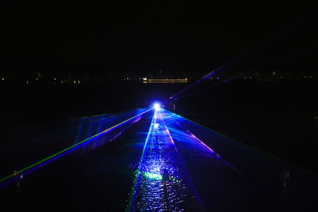 Music fountain water curtain laser
