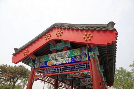 Chinese style building corridor Standard-Bild