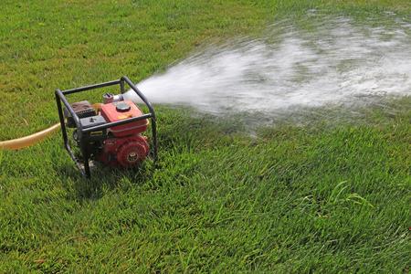 A diesel pump on the lawn Editorial