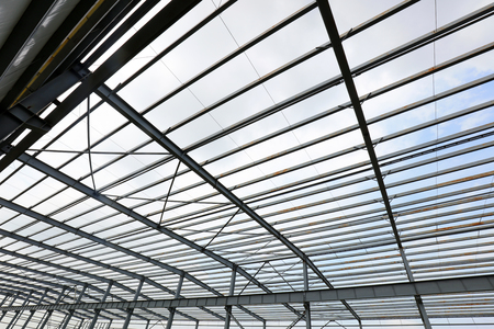 Steel girder truss of factory