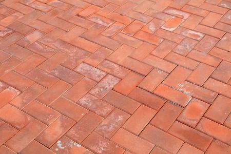 Red cement floor tile