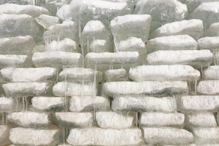 Tidy ice outdoors