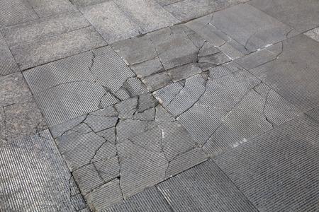 cracked gray floor Imagens