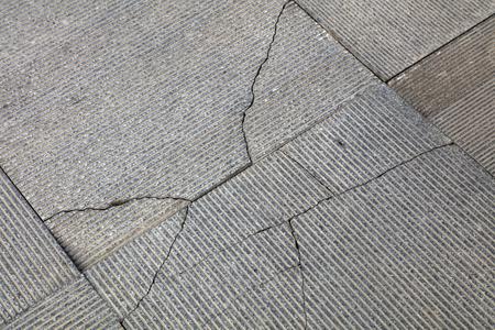 Broken gray floor