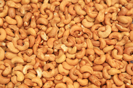 Piles of cashew nuts 免版税图像