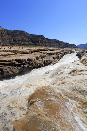 Hukou Waterfall Scenery of the Yellow River in China