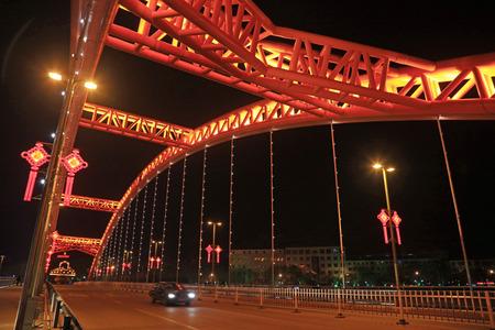 Steel Bridges at Night
