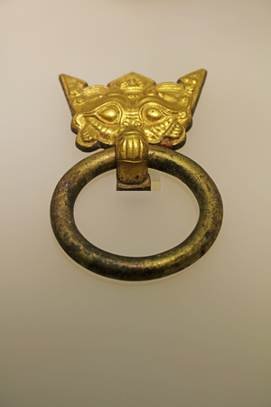 Ancient Chinese Gold and Copper Door Rings