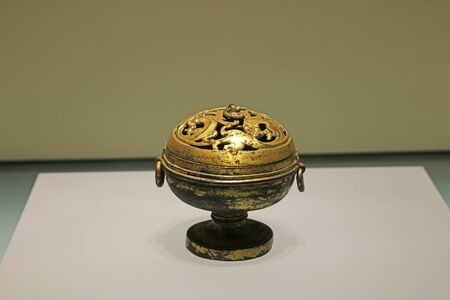 Ancient Chinese bronze utensils, unearthed cultural relics Banco de Imagens