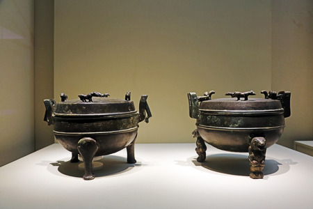 Ancient Chinese bronze utensils, unearthed cultural relics