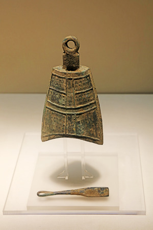 Chinese bronze bells, unearthed cultural relics