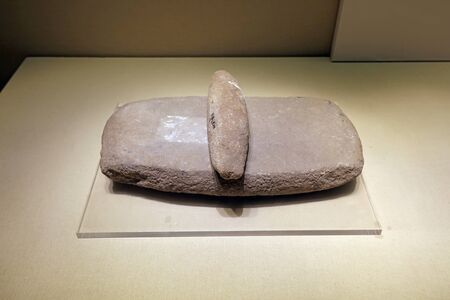 Ancient Chinese Stone Artifacts in the Exhibition Hall