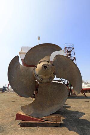 Marine propeller close-up